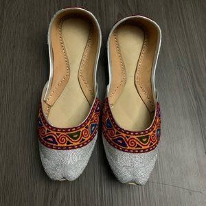 Artisan shoes flats genuine leather handmade 8